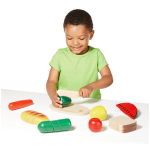 Cutting Food Wood Playset