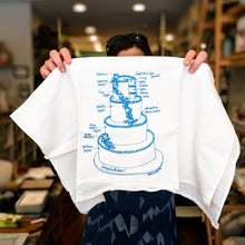 Load image into Gallery viewer, Wedding Cake Tea Towel