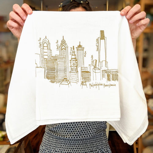 Philly Skyline Tea Towel