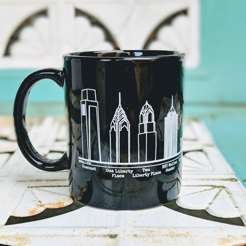 Philadelphia Skyline Mugs Set