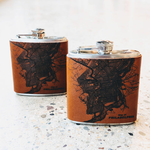 Philadelphia Leather Flask