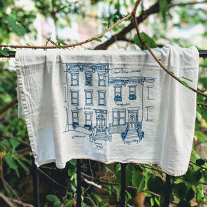 Rowhouses Tea Towel