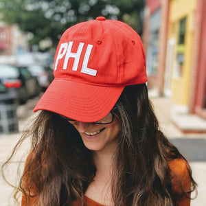 Red PHL Baseball Hat