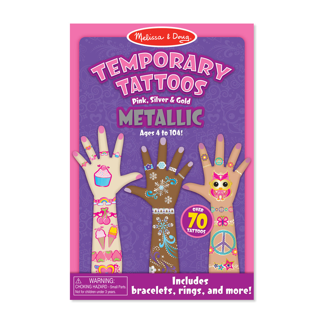 Metallic My First Temporary Tattoos