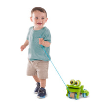 Load image into Gallery viewer, Frolicking Frog Pull Toy