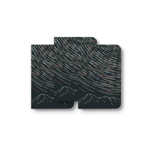 Star Trails Lined Notebook Set