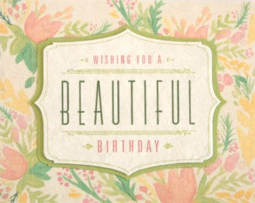 Beautiful Birthday Watercolor Card