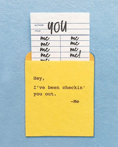 Checkin' You Out Love Card
