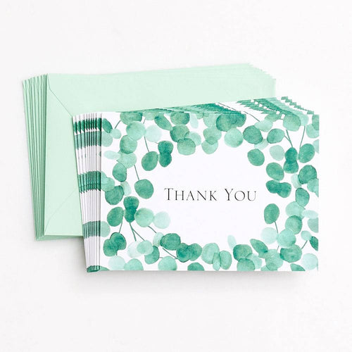 Eucalyptus Thank You Boxed Cards