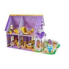 Load image into Gallery viewer, Pretty Purple Dollhouse 3D Puzzle