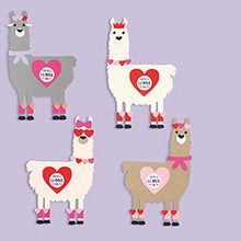 Load image into Gallery viewer, Llama Valentine's Day Card Kit