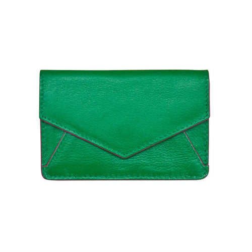 Emerald Envelope Business Card Wallet