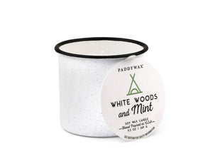 Woods & Mint Alpine Enamel Candle by paddywax at local housewares store Division IV in Philadelphia, Pennsylvania