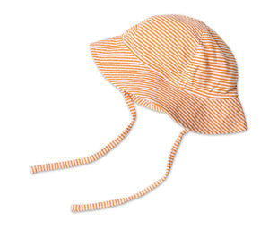 Orange Candy Stripe Sun Hat