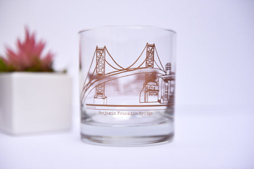 Philadelphia Skyline Rocks Glasses