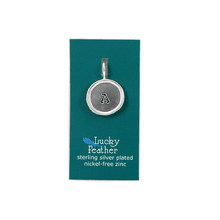 Load image into Gallery viewer, Silver Letter Charms by Lucky Feather at local Fairmount shop Ali's Wagon in Philadelphia, Pennsylvania