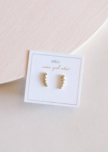 Champagne Crawler Earrings