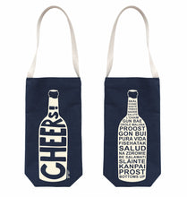 Load image into Gallery viewer, Cheers! Wine Tote by Maptote at local Fairmount shop Ali's Wagon in Philadelphia, Pennsylvania