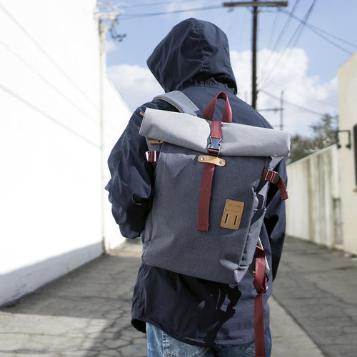 Grey Rolltop PLUS Backpack