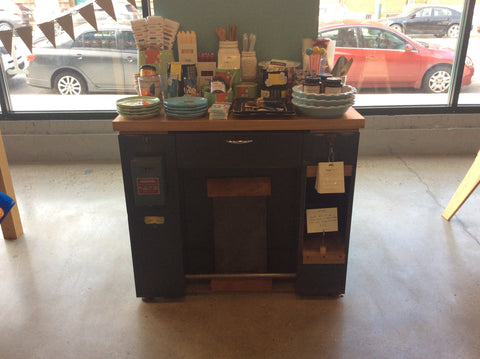 Kitchen Island / Service Cabinet by Dusty Amodio at local housewares store Division IV in Philadelphia, Pennsylvania