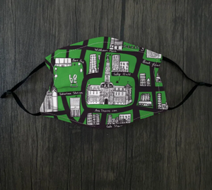 Green Philly Map Face Mask