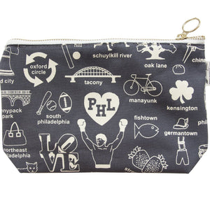Philadelphia Zip Pouch by maptote at local Fairmount shop Ali's Wagon in Philadelphia, Pennsylvania