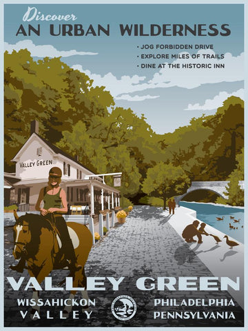 Valley Green Poster by Philly Outside at local housewares store Division IV in Philadelphia, Pennsylvania
