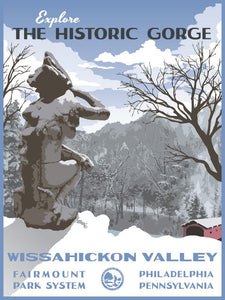Wissahickon Poster by Philly Outside at local housewares store Division IV in Philadelphia, Pennsylvania