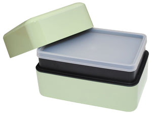 Pistachio Green Rectangular Bento Box