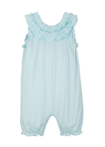 Turquoise Ruffle Romper