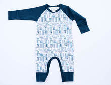 Load image into Gallery viewer, Sailor Sleeve City Print Romper