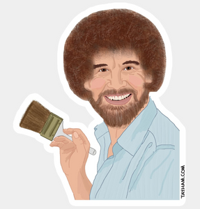 Bob Ross Happy Trees Sticker