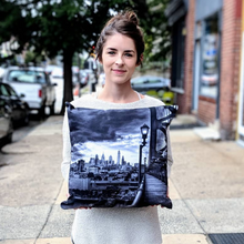 Load image into Gallery viewer, City View Ben Franklin Pillow