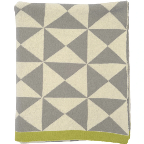 Grey Wind Farm Throw Blanket