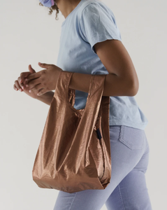 Copper Metallic Baggu Reusable Bag
