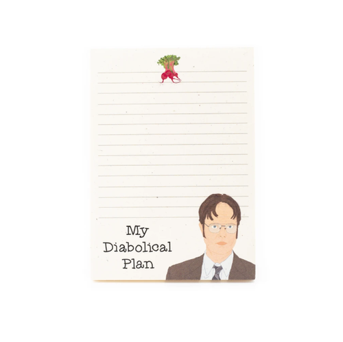 Diabolical Plan Dwight Schrute Notepad