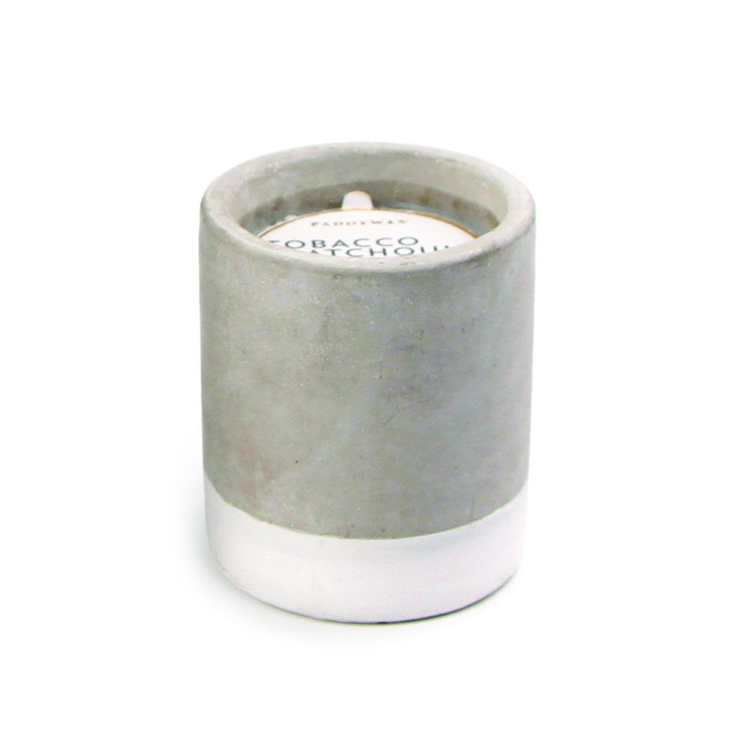 Tobacco & Patchouli Urban Concrete Candle by paddywax at local housewares store Division IV in Philadelphia, Pennsylvania