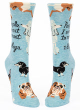 Load image into Gallery viewer, People I Want to Meet Dogs Crew Socks