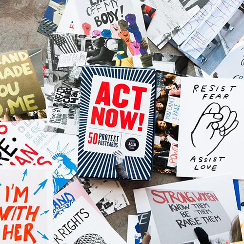 Act Now Protest Postcards