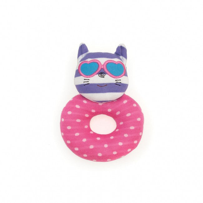 Catnap Kitty Teething Rattle by Apple Park at local Fairmount shop Ali's Wagon in Philadelphia, Pennsylvania