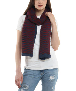 Maroon Ashley Chunky Scarf