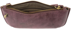Aubergine Mini Crossbody & Wristlet
