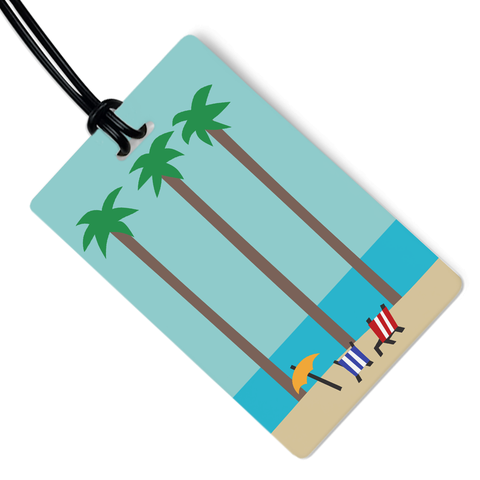 Beach Day Luggage Tag