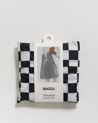 Black Checkerboard Baggu Reusable Bag