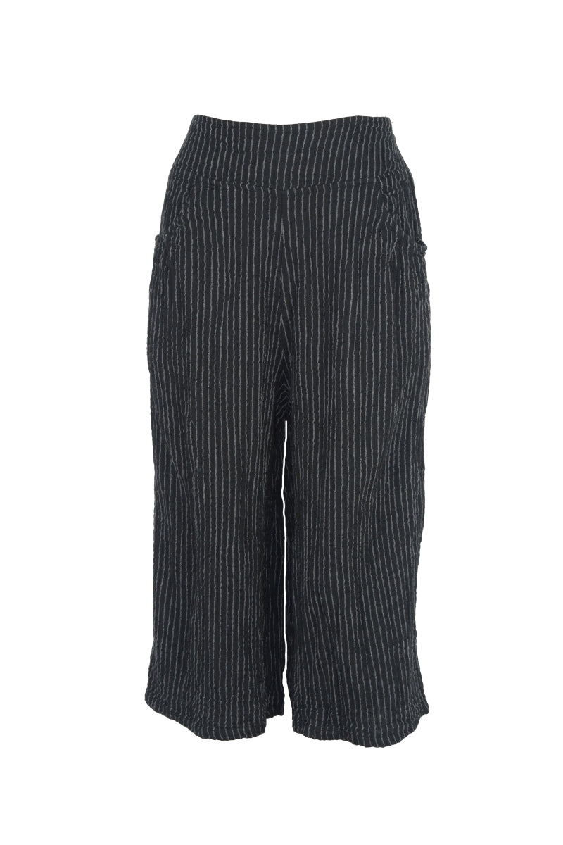 Black Stripe Thai Cotton Gaucho