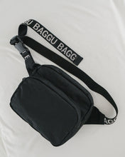 Load image into Gallery viewer, Black Baggu Fanny Pack