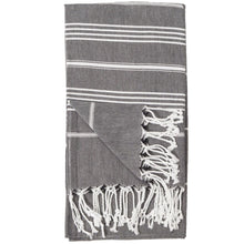 Load image into Gallery viewer, Black Sultan Turkish Towel