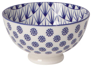 Blue Dots Stamped Bowl