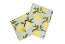 Load image into Gallery viewer, Blue Lemon Organic Burp Cloths
