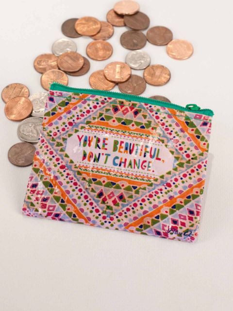 You're Beautiful Don't Change Coin Purse by Blue Q at local Fairmount shop Ali's Wagon in Philadelphia, Pennsylvania